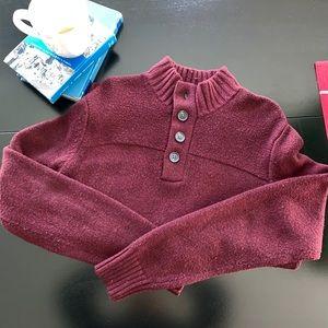Davis & Squire wool blend maroon knitwear